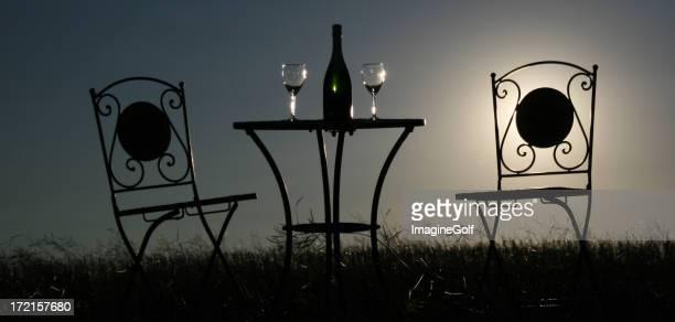 Table for Two Silhouette
