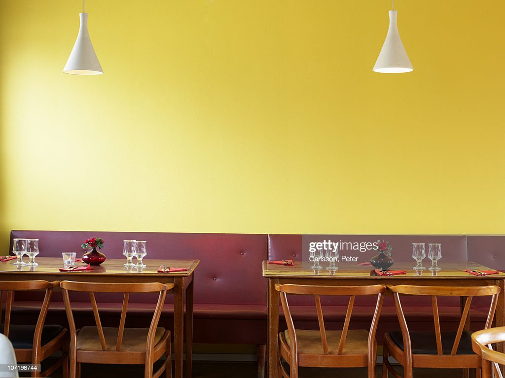 Table laid out in restaurant : Stock Photo