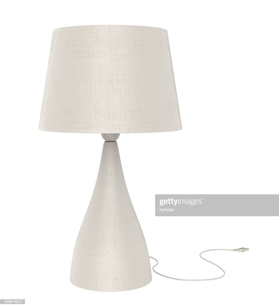 Table lamp isolated on white background : Stock Photo
