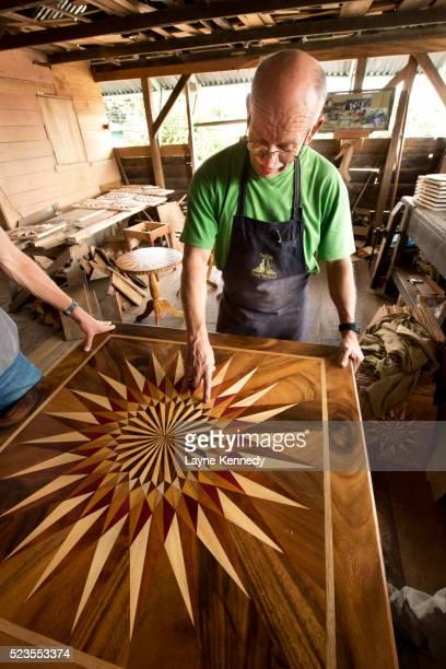 Table maker at the Fabrica de Carretas de Eloy Alfaro, Ox Cart Factory