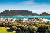 Table Mountain during a spring day in Cape Town