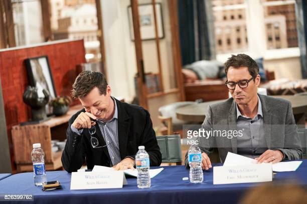 WILL GRACE 'Table Read 1st Episode' Pictured Sean Hayes Eric McCormack