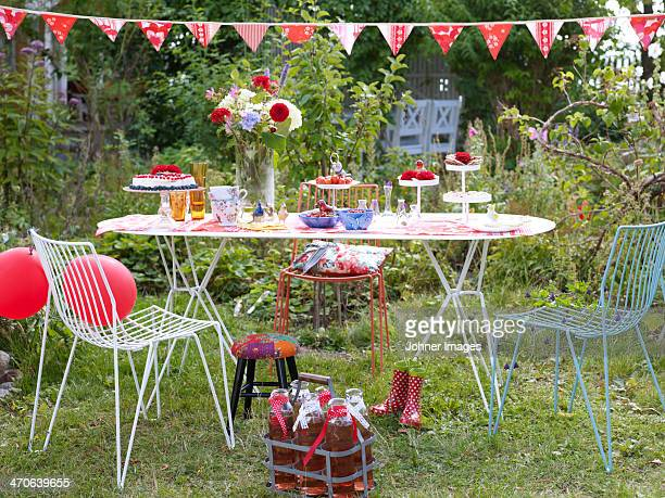 Table ready for children party