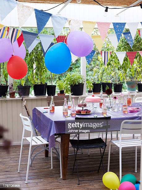 Table set for children party