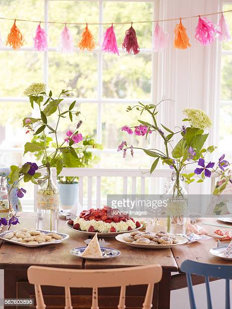 Table set for party