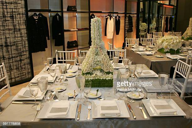 Table Setting attends The Camellia Luncheon Sponsored by Chanel to benefit The New York Botanical Garden at Chanel on October 25 2005 in New York City