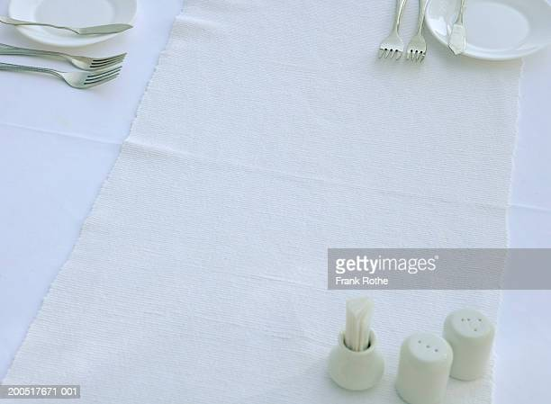 Table setting, elevated view