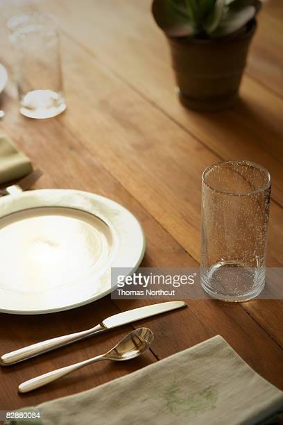 Tischpositionierung auf Holz Tisch
