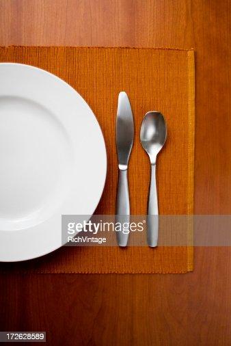 Table Setting on Orange
