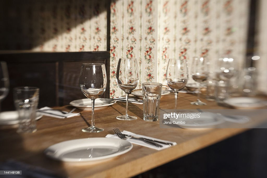A table setting : Stock Photo