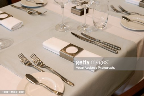 Table setting : Stock Photo