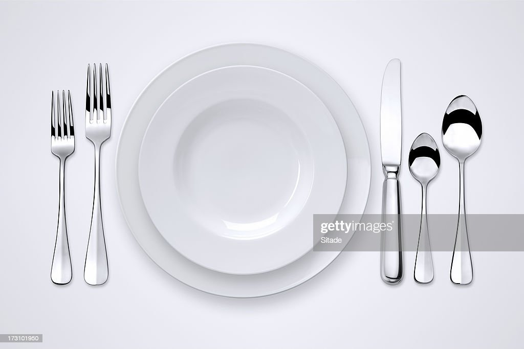 Table Setting With Clipping Paths
