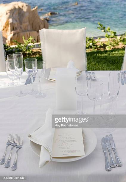 Table setting with invitation