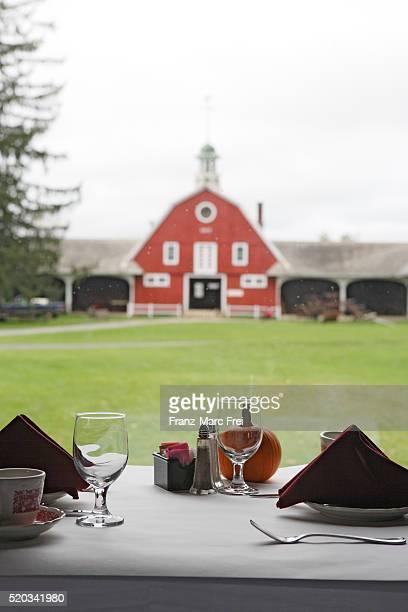 Table Settings at Inn at Mountain View Farm