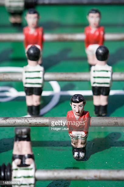 Table soccer figures.