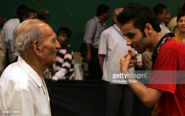 Table Tennis Aman Balgu winner of Youth and Mens catagery talks with Uttam Chandrana oldest living National Table Tennis champion at Mumbai City...