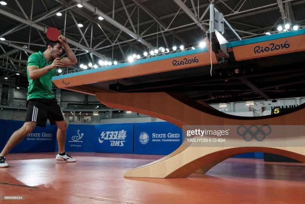A Table Tennis Player Competes During Rio De Janeiro States Championship At The Carioca Arena 3 Which Hosted Different Events 2016 Olympic