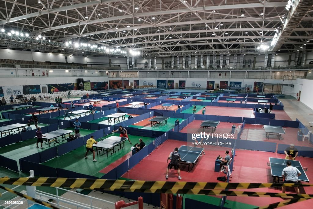 Table Tennis Players Compete During Rio De Janeiro States Championship At The Carioca Arena 3 Which