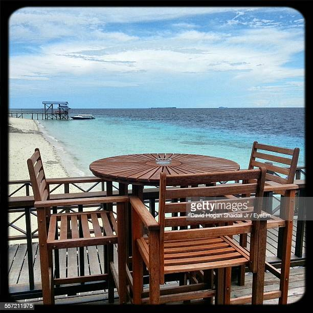 Table With Chairs On Pier