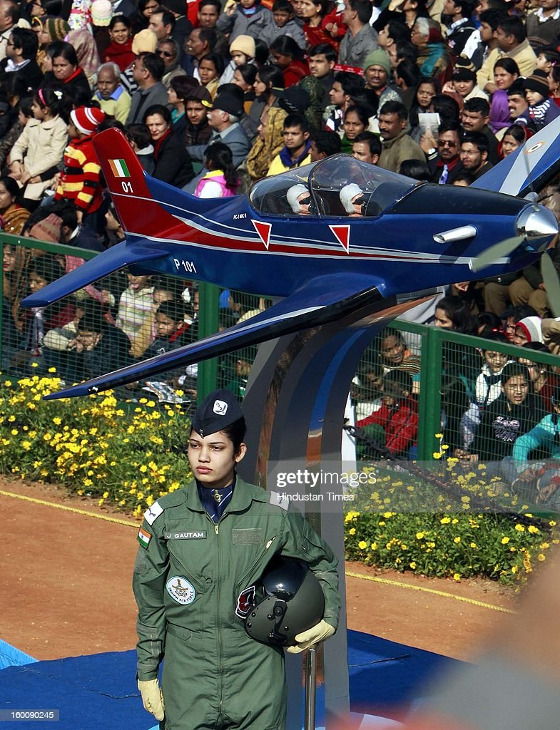 A Tableau from Indian Air Force during the 64th Republic Day parade celebration at Raj path on January 26, 2013 in New Delhi, India. India marked its Republic Day with celebrations held under heavy security, especially in New Delhi where large areas were sealed off for an annual parade of military hardware.