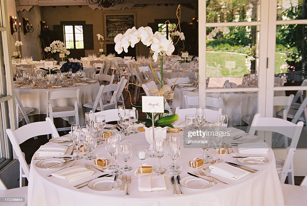 Decorated Tables Adorable Tables Decorated At Stylish Wedding Reception Stock Photo  Getty Design Ideas