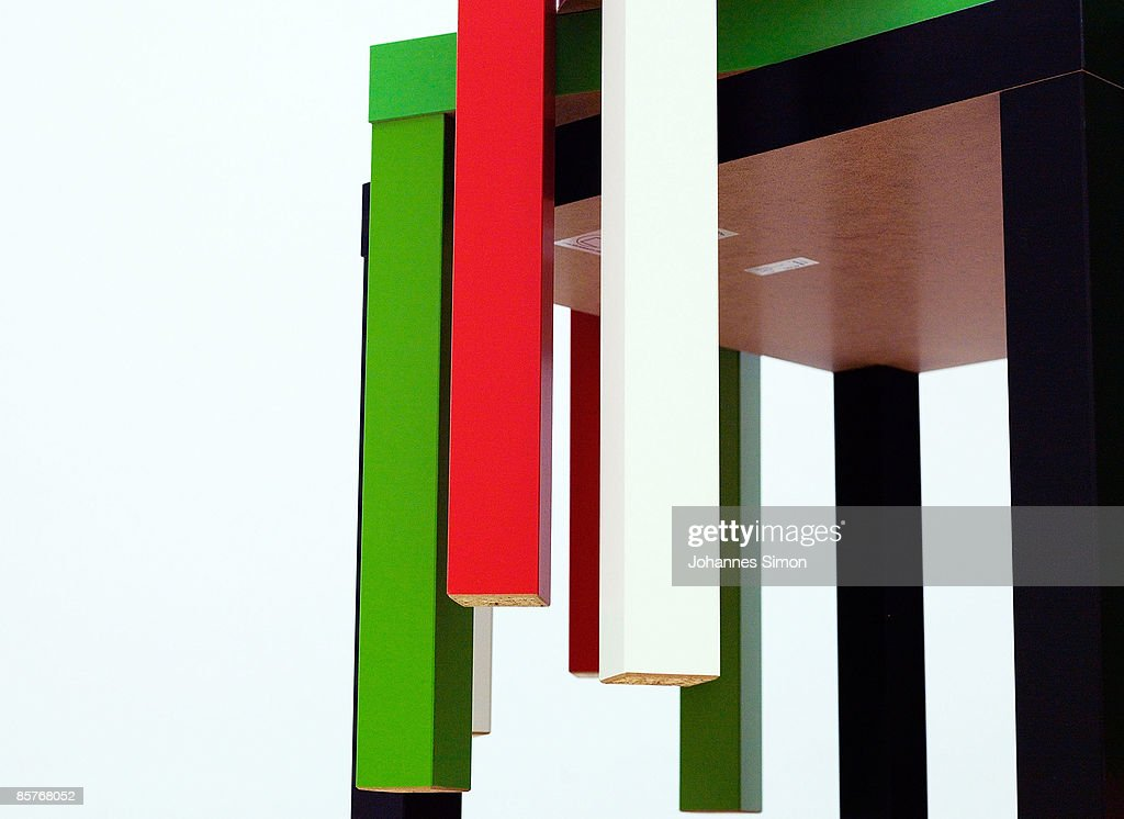 Tables  Lack   1980  of Swedish modern style home furnishing company IKEA  poses. IKEA Democratic Design Exhibition Photos and Images   Getty Images