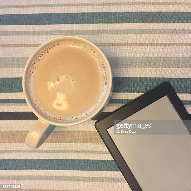 Tablet and Coffee Flatlay