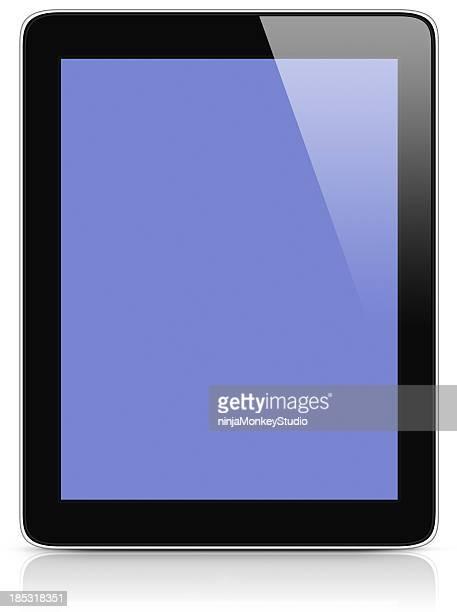 Tablette ordinateur, semblable à un iPad et des tracés de détourage