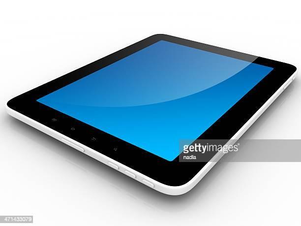 Tablet-PC-Computer mit leeren Bildschirm Isoliert