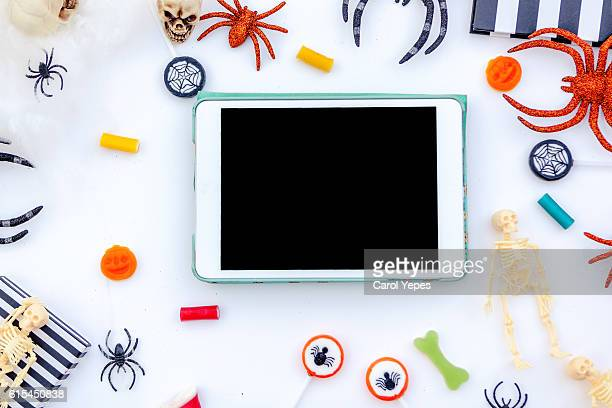 Tablet mock up template for halloween holiday