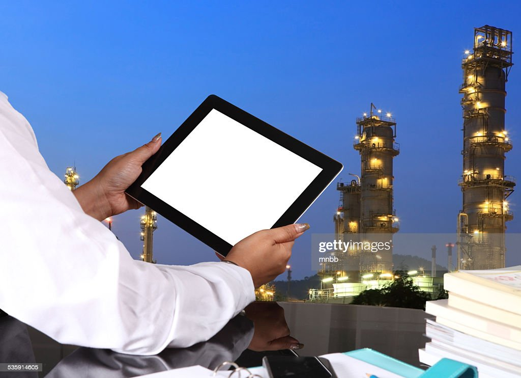 tablet pc on table : Stock Photo