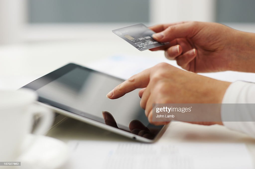 Tablet shopping : Stock Photo