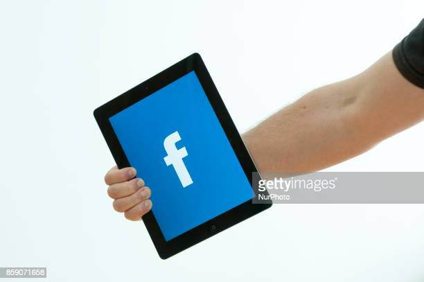 A tablet with a Facebook logo is seen in this photo illustration on October 6 2017 in Bydgoszcz Poland