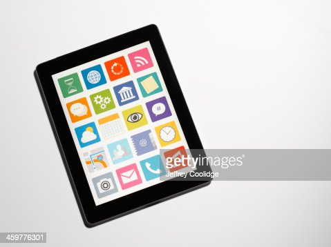 Tablet With Icons