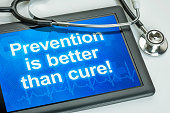 Tablet with the text Prevention is better than cure