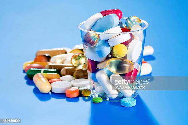 Tablets and capsules, still life