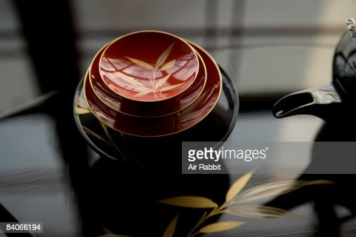 Tableware of lacquer in Japan