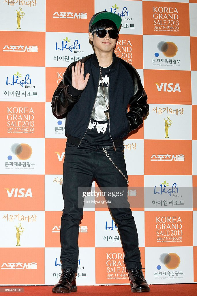 Tablo of South Korean hip hop band Epik High attends the 22nd High1 Seoul Music Awards at SK Handball Arena on January 31, 2013 in Seoul, South Korea.