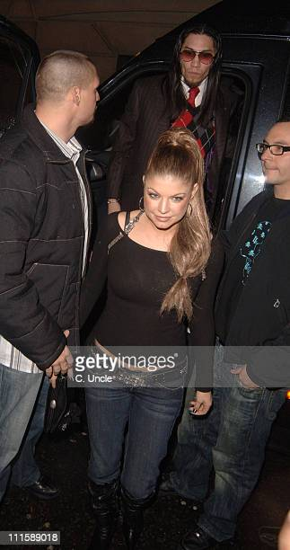 Taboo and Fergie of Black Eyed Peas during Black Eyed Peas and MTV's Monkey Business Christmas Party December 18 2005 at Kabaret Club in London Great...