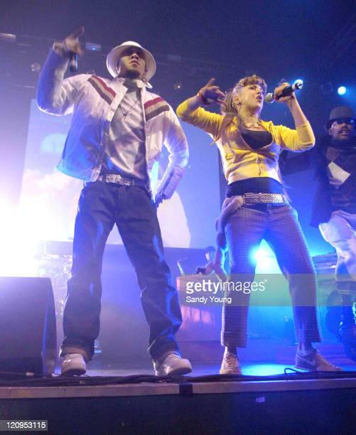 Taboo and Fergie of Black Eyed Peas during Black Eyed Peas in Concert at Carling Academy in Glasgow December 15 2005 at Carling Academy Glasgow in...