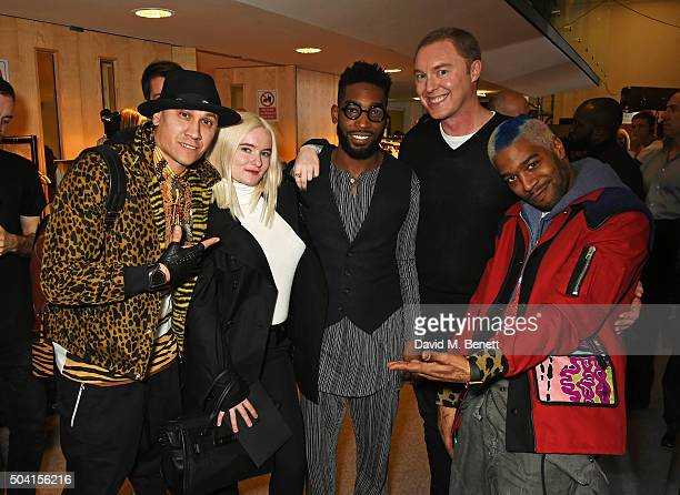 Taboo Grace Chatto Tinie Tempah COACH Creative Director Stuart Vevers and Kid Cudi attend the Coach FW16 show front row during London Collections Men...