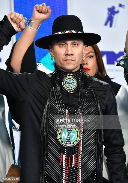 Taboo of Black Eyed Peas arrives at the 2017 MTV Video Music Awards at The Forum on August 27 2017 in Inglewood California