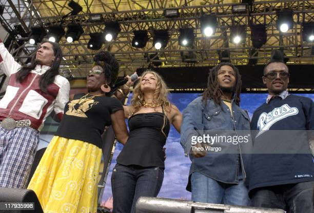 Taboo of Black Eyed Peas Rita Marley Fergie of Black Eyed Peas Stephen Marley and apldeap of Black Eyed Peas