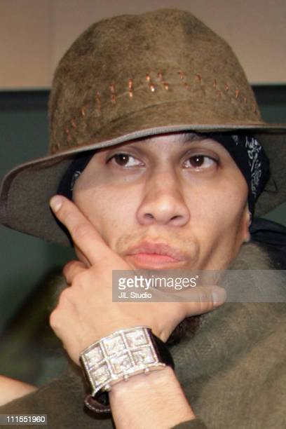 Taboo of the Black Eyed Peas during Black Eyed Peas Press Conference for Their New Album 'Monkey Business' September 16 2005 at Grand Hyatt Tokyo in...