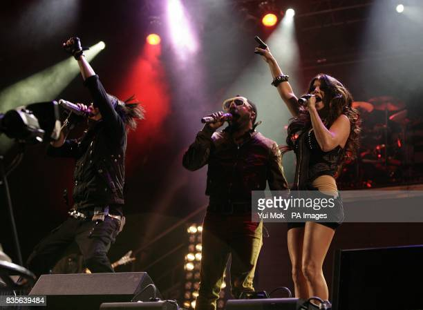Taboo william and Fergie of Black Eyed Peas performing during the 2009 Glastonbury Festival at Worthy Farm in Pilton Somerset
