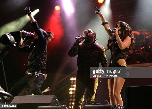 Taboo william and Fergie of The Black Eyed Peas perform during the 2009 Glastonbury Festival at Worthy Farm in Pilton Somerset