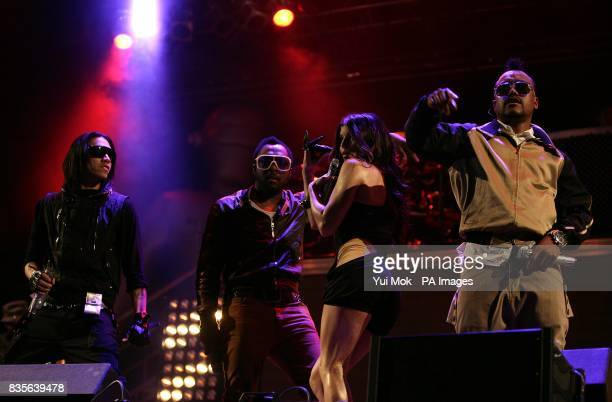 Taboo william Fergie and apldeap of Black Eyed Peas performing during the 2009 Glastonbury Festival at Worthy Farm in Pilton Somerset