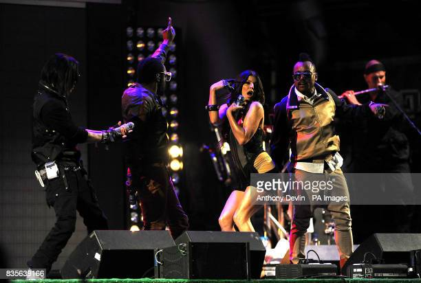 Taboo william Fergie and apldeap of The Black Eyed Peas perform during the 2009 Glastonbury Festival at Worthy Farm in Pilton Somerset