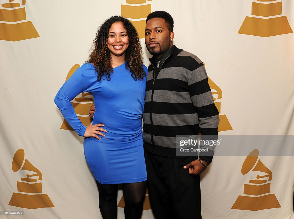 Tabria and KC attend the 55th Annual GRAMMY Awards Telecast Party at Hard Rock Cafe on February 10, 2013 in Chicago, Illinois.