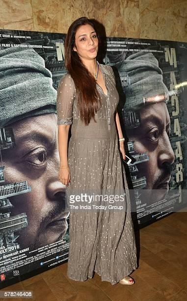 Tabu during the screening of the film Madaari in Mumbai